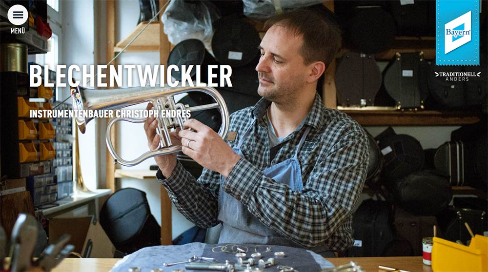 Instrumentenbauer Christoph Endres auf www.bayern.by.